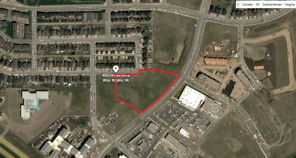 3.42 acre development site in Greens on Gardiner across from Acre 21. Court order listing